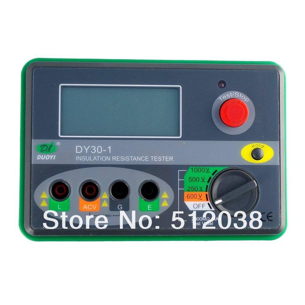 DY30-1 Digital Insulation Resistance Tester Megohmmeter Multimeter Tester Electrical Instrument  1000V   2000M ohm