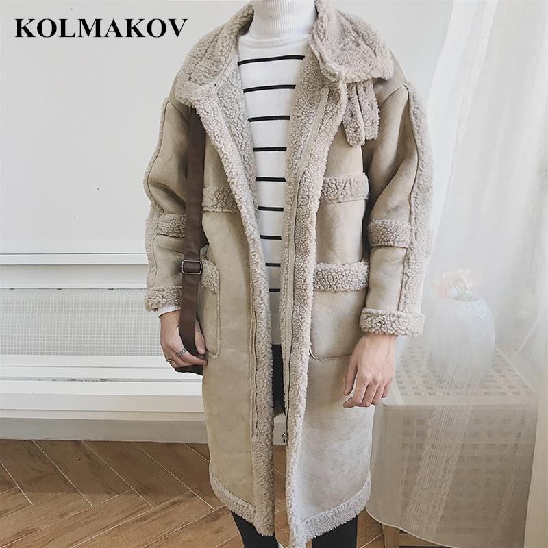 KOLMAKOV-سترة واقية من الكشمير للرجال ، ملابس عصرية جديدة ، سترة واقية طويلة ، بطانة ، معطف واق من المطر ، ملابس خارجية دافئة