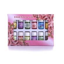 12 bouteilles/paquet de plantes naturelles parfum 3ml huile essentielle soluble dans leau pour SPA aromathérapie humidificateur parfum purificateur dair