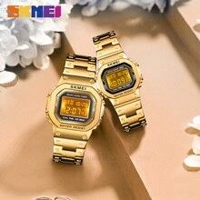 SKMEI Fashion Digital Watch Men Women Couple Wristwatches 2Time Chrono Watches Waterproof horloges vrouwen mannen 1456 1433 Set