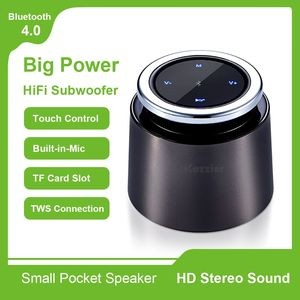 Portable Bluetooth Speaker,HiFi Wireless Zinc Alloy Speaker Gift Touch Control,Built-in-Mic, Handsfree,TF Support,Remote Control