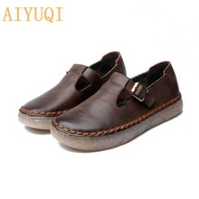 AIYUQI Women shoes 2021 new shoes women genuine leather casual spring footwear retro oxford shoes fl