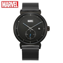 Reloj de pulsera de cuarzo ultrafino de acero inoxidable con calendario Los vengadores de marvel para hombre, reloj de lujo de Disney resistente al agua para hombre