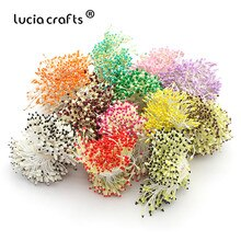 Lucia rzemiosło 288 sztuk/partia kwiat pręcik 60mm Handmade sztuczny kwiat na ślub wystrój D0501