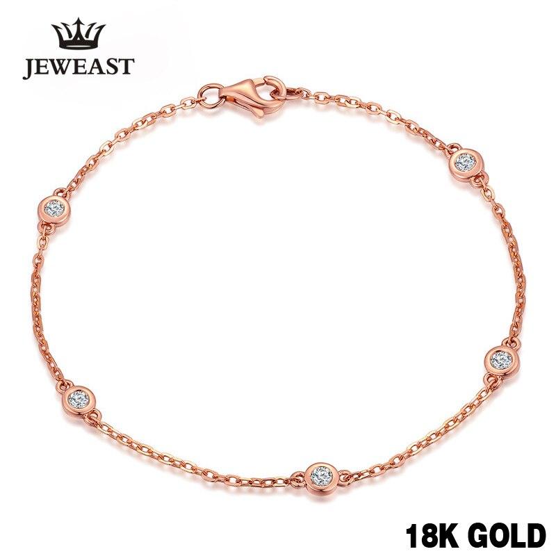 18k pure rosa ouro natural pulseira feminina moda bangle romântico feminino jóias menina presente festa na moda venda quente bom