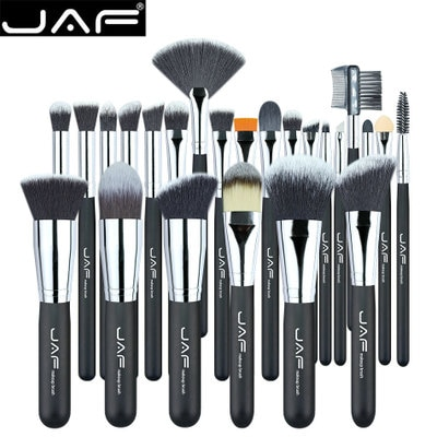 Por DHL 50 set/lote marca de maquillaje cepillo suave de alta calidad Taklon pelo maquillaje profesional cepillo herramienta Kit 24 unids/set