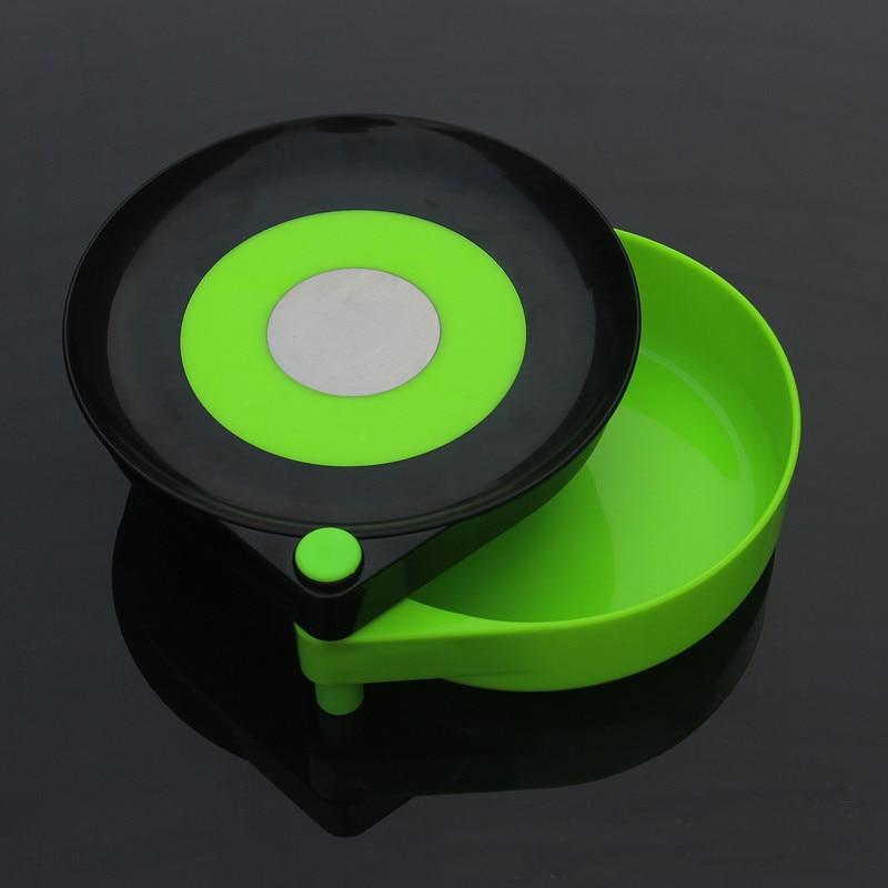 Plástico doble herramienta de pesca magnética al aire libre tirar de la placa del cebo de pesca señuelo caja accesorios de pesca con soporte