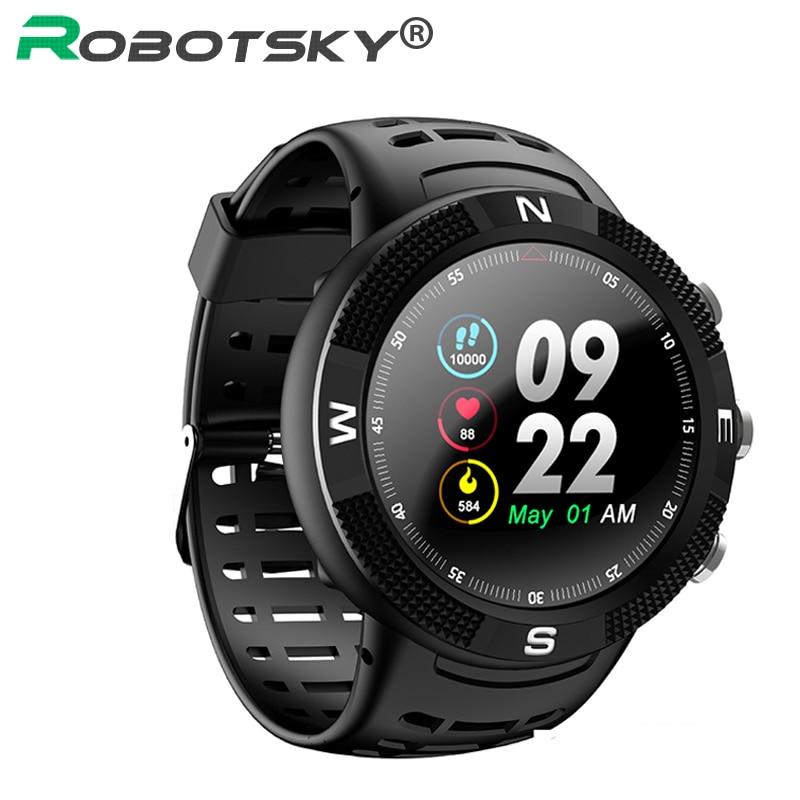 Reloj inteligente F18 para exteriores con posicionamiento GPS, IP68, relojes con brújula a prueba de agua, recordatorio de llamada, reloj inteligente con frecuencia cardíaca para hombres