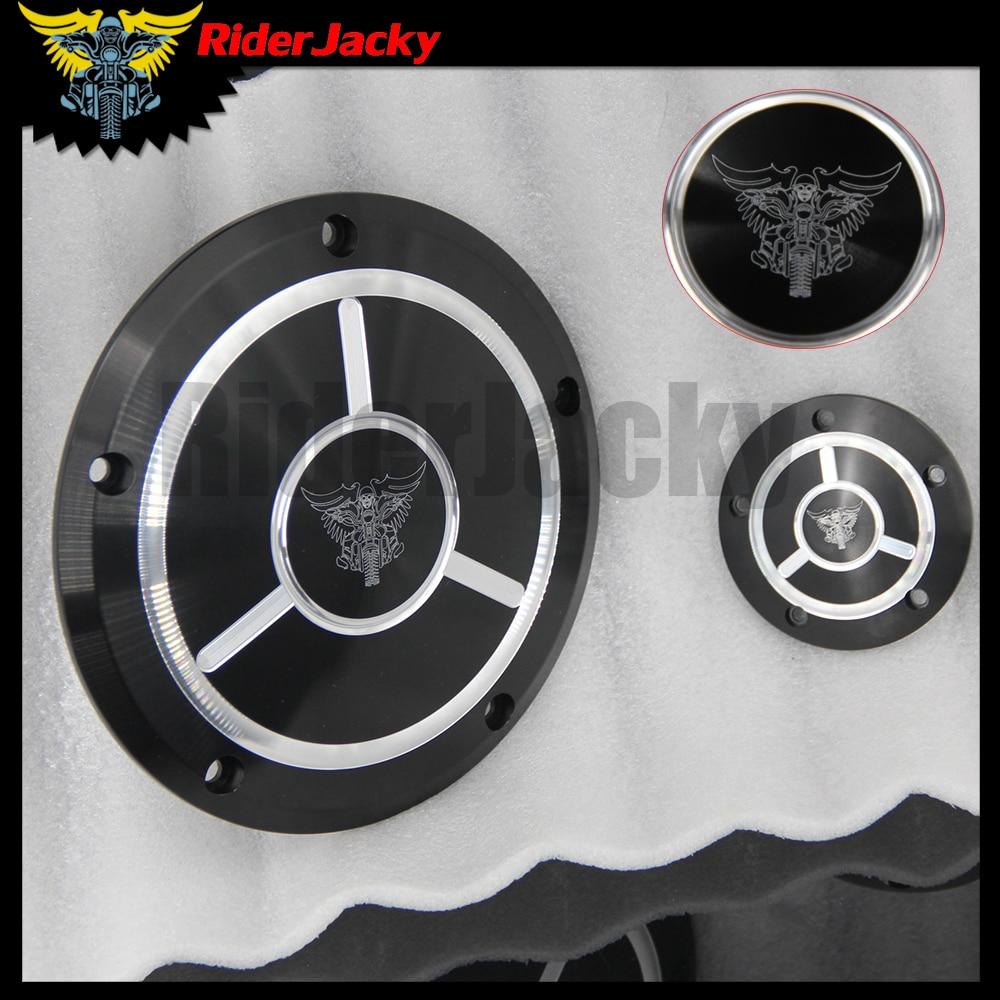 Riderjacky Für Harley Dyna FLD Street Glide FLHTK FLHRS FatBoy FXSTB Motorrad CNC Derby Timer Timing Motor Abdeckung