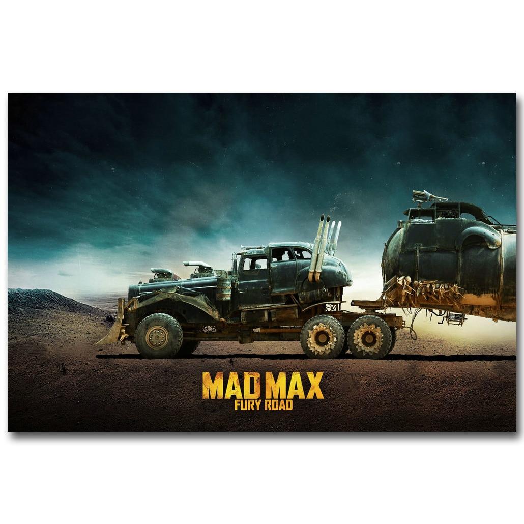 MAD MAX FURY ROAD Art, Шелковый тканевый плакат с принтом 13x20 24x36 дюймов, картина из фильма для гостиной, украшение на стену, 017