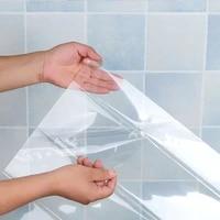 Autocollants muraux transparents de cuisine  papier peint auto-adhesif etanche a haute temperature  resistant a la graisse pour salle de bain