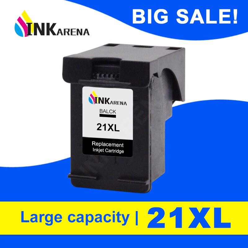 INKARENA 21 recarga reemplazo de cartucho de tinta para HP21 para HP 21 XL Deskjet serie F2180 F2200 F2280 F4180 F300 F380 380 D2300 impresora