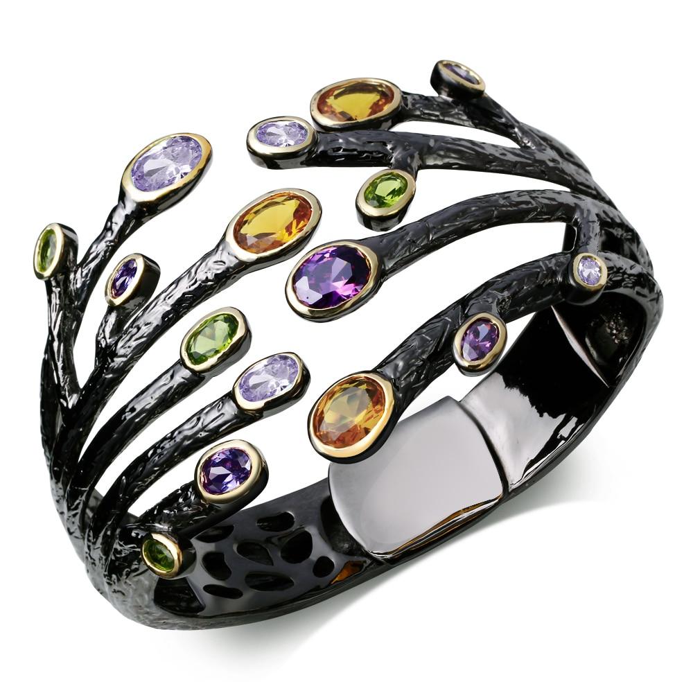 63mm de Diâmetro grande pulseira da moda Pulseiras coloridas pedra negra indiano Pulseiras novo projeto shippment Livre