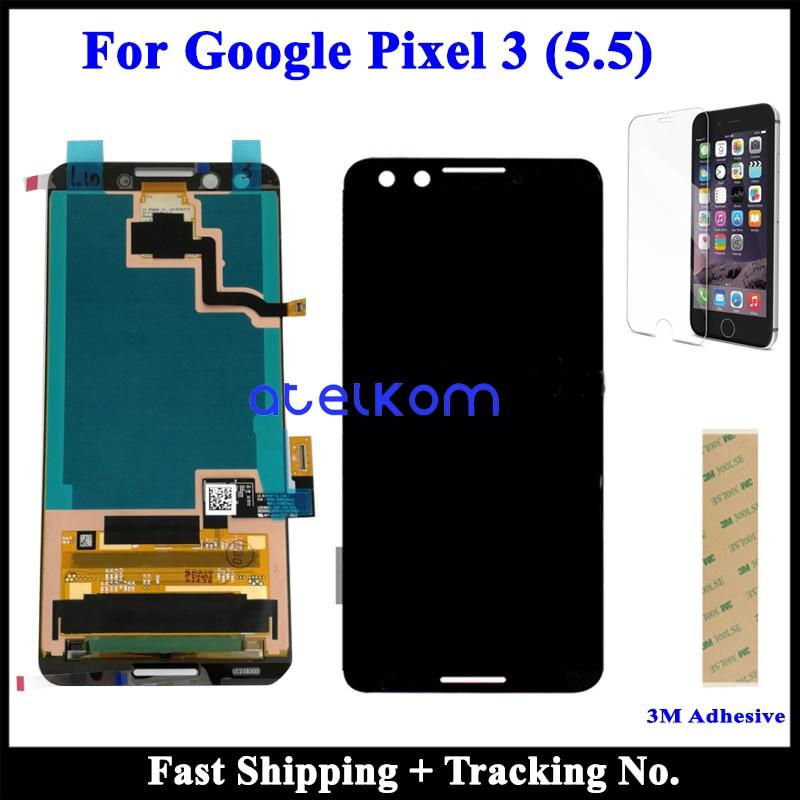100% pulgadas Super AMOLED LCD Original para Google Pixel 3XL LCD Pixel 3 para Google Pixel 3 pantalla LCD pantalla táctil digitalizador de montaje