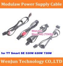 PCI-E Dual 8pin (6 + 2)/pcie 6 + 2pin/SATA 15pin/IDE 4pin modular Cable de alimentación para Tt inteligente SE 530W 630W 730W Thermaltake sm