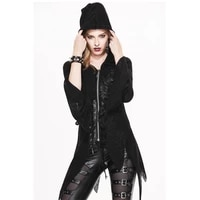 steampunk gothic winter fleece coat women with hat long sleeves slim fit thinner hooded jacket women plue sizes irregular