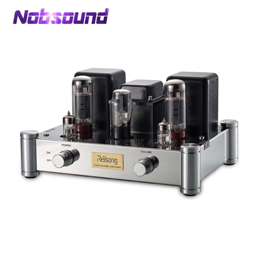 Amplificador de tubo de válvula de un solo extremo EL34 Nobsound 2020 estéreo Clase A HiFi 2,0 canales de potencia Amp 24W