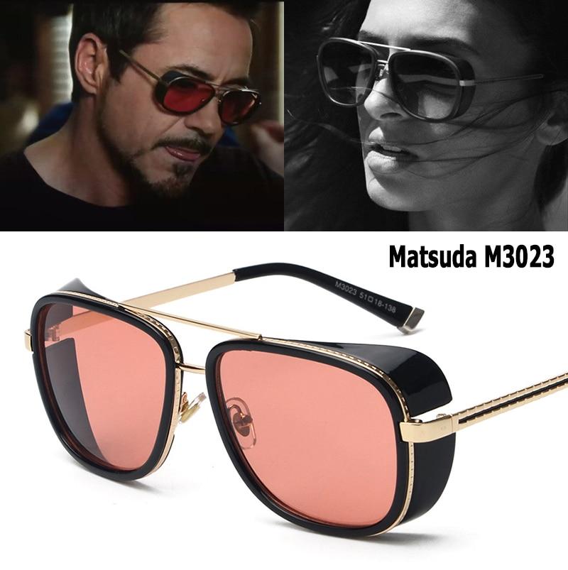 JackJad 2018 Модные солнцезащитные очки с Железным человеком 3 Matsuda RAY TONY в стиле стимпанк мужские и женские винтажные классические солнцезащитны...