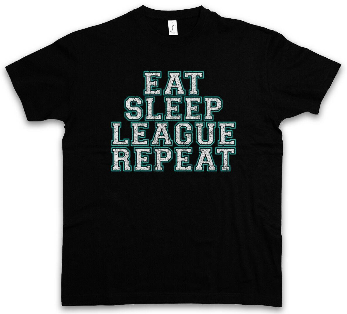 Comer dormir Liga camiseta de jugador diversión de juego leyendas científico informático