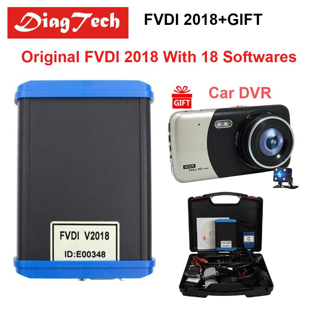 Original FVDI 2018 ABRITES Commander Diagnostic Tool Full Version (18 Softwares) No Limited Covers FVDI 2014 2015 2016 + Car DVR