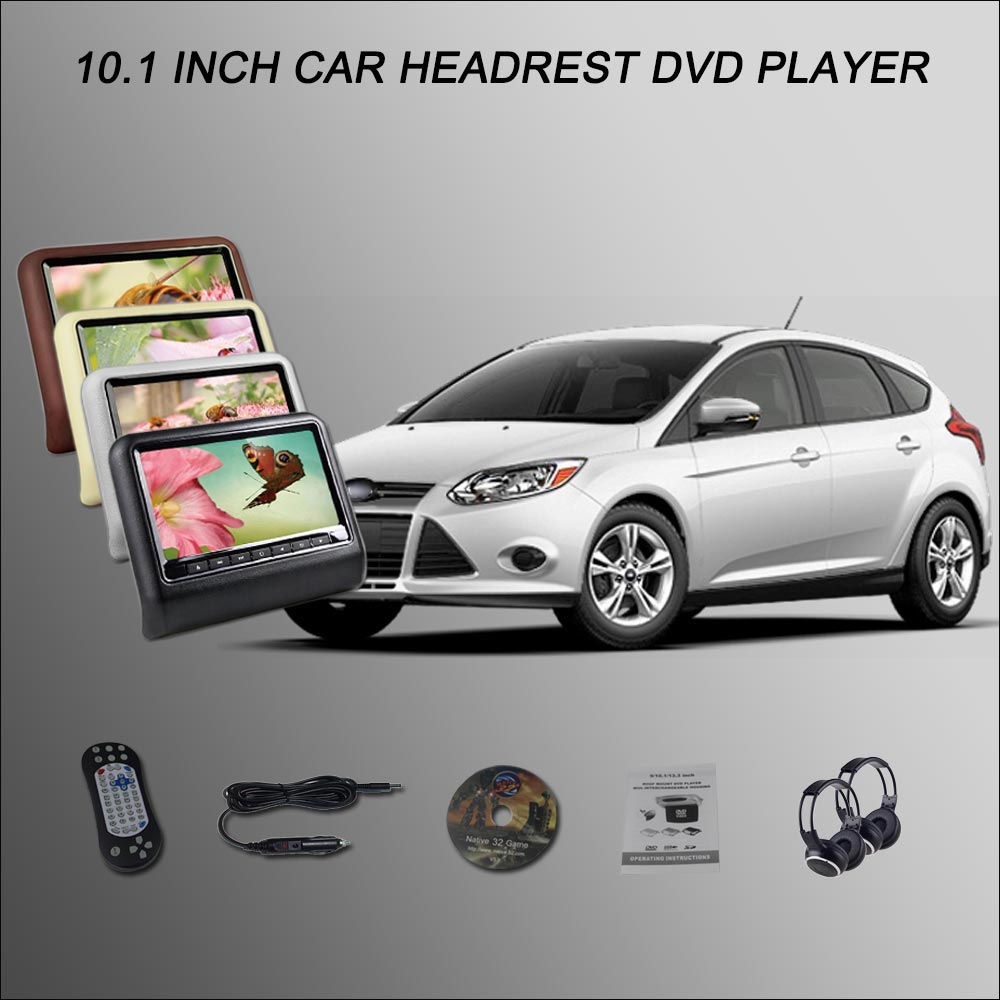 "BigBigRoad para Ford Focus 2 Hatchback 10,1 ""monitor para reposacabezas de coche pantalla LCD con pantalla HDMI USB SD reproductor de DVD juegos IR Control remoto"
