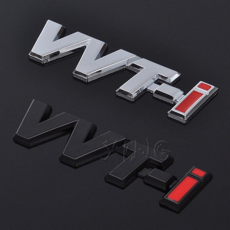 Pegatina de coche emblema de guardabarros Auto emblema de alerón lateral Calcomanía para Toyota vvt-i VVTi Logo Camry Corolla Rav4 Yaris Chr Auris Avensis Reiz