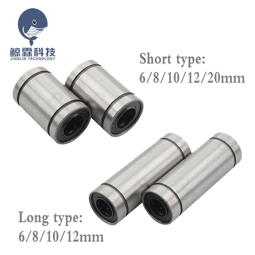 10 unids/lote LM8UU LM10UU LM6UU LM12UU LM3UU casquillo lineal 8mm CNC rodamientos lineales 8mm para barras de revestimiento de carril piezas de eje lineal.