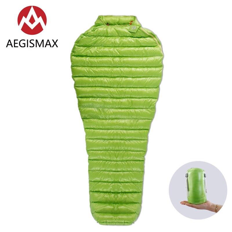 AEGISMAX acampar al aire libre ultraligero 95% ganso mamá bolsa de dormir tres-temporada de dormir al aire libre bolsa de 180x78cm