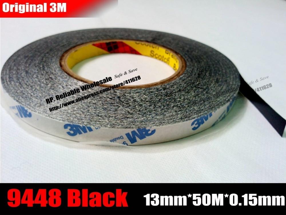 (13mm * 50M) 3M9448B, cinta adhesiva de doble cara para Android móvil, ipad, Tablet, pantalla táctil LCD, reparación de cristal negro