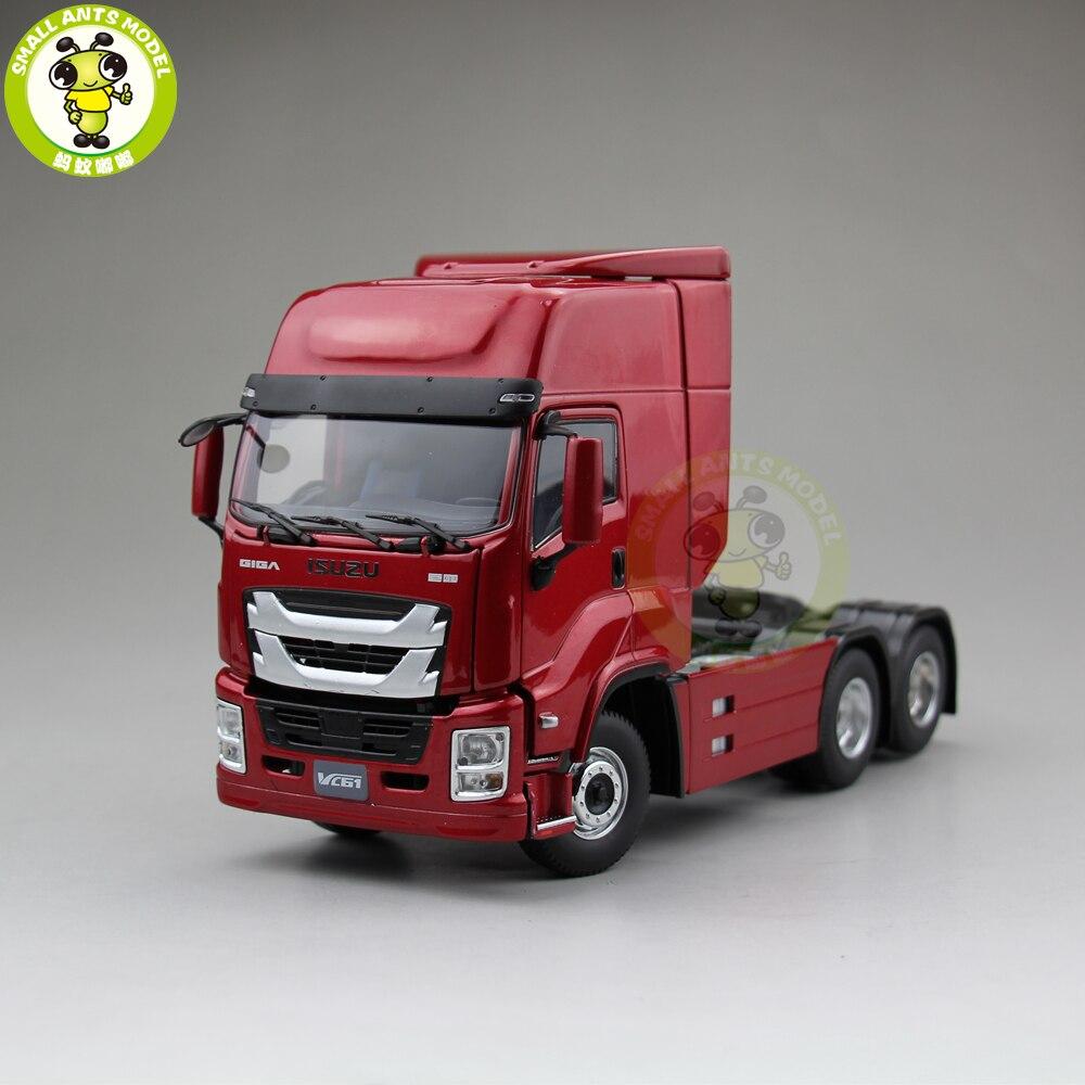1/32 Isuzu GIGA VC61 трейлер для грузовика, литой под давлением автомобиль, коллекция моделей, подарок, хобби, красный