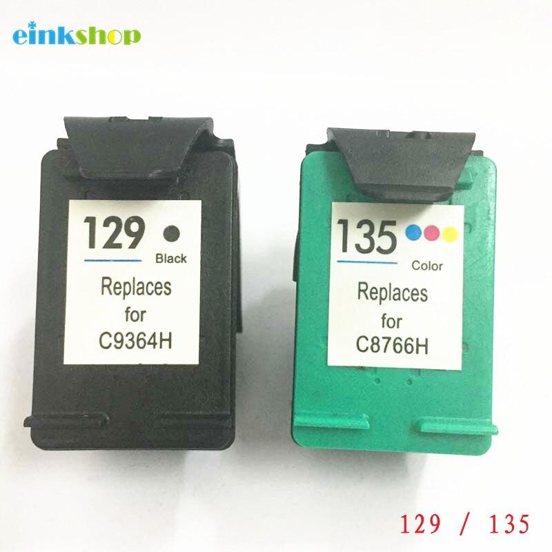 Einkshop 129 135 reemplazo de cartucho de tinta para hp 129 135 Deskjet serie C4183 5943, 6943 de 6983 D4163 2575 D5163 cartucho hp c4183
