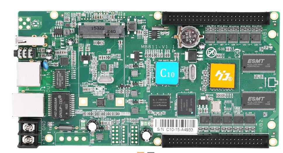 free shipping Asynchronous RGB led display controller HD-C30/C35  internet+usb port with 1hub 75 board
