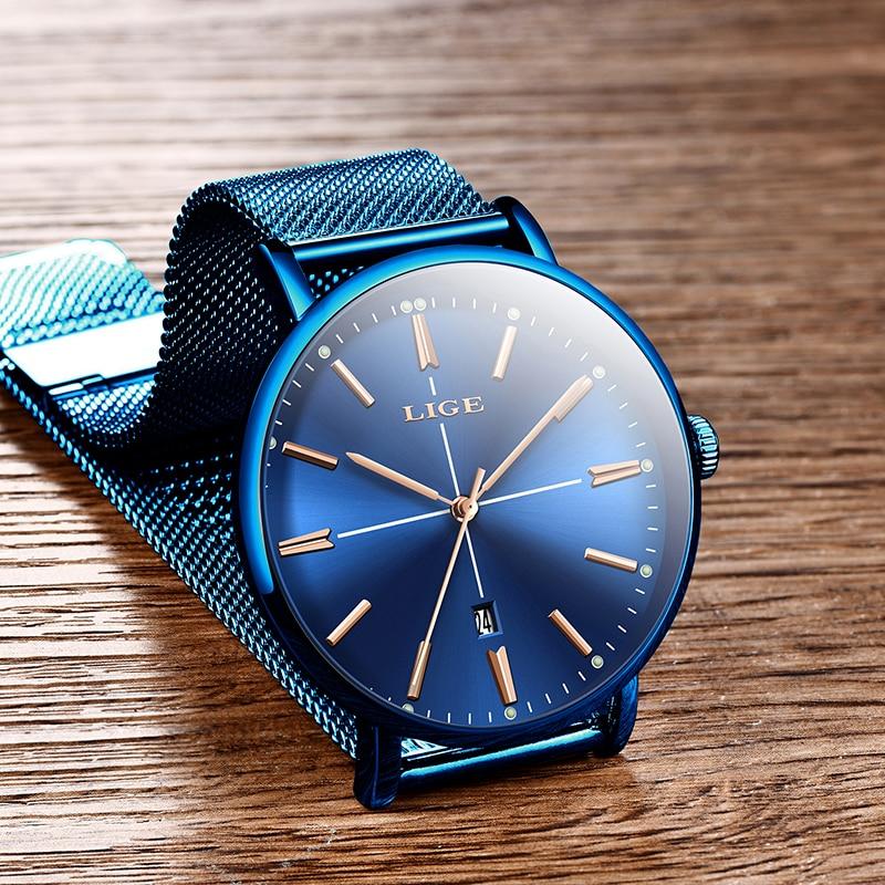 2019 New Blue Women Watch Business Quartz Watch Ladies LIGE Top Brand Luxury Female Wrist Watch Women Girl Clock Relogio Feminin enlarge
