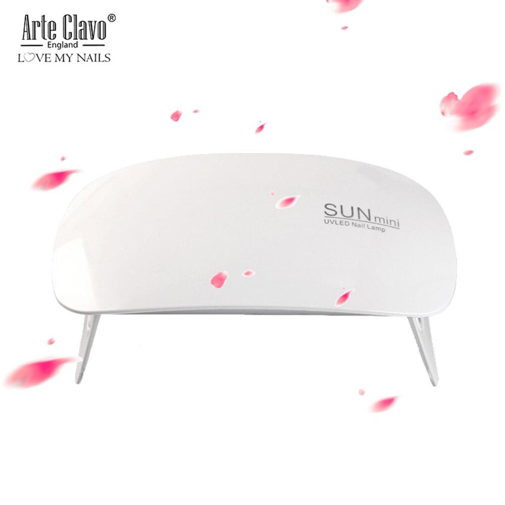 UV lámpara LED para secado de uñas 6W SUNmini portátil de carga USB para curar Gel esmalte de uñas Gel de laca de uñas lámparas 45 s/60 s temporizador