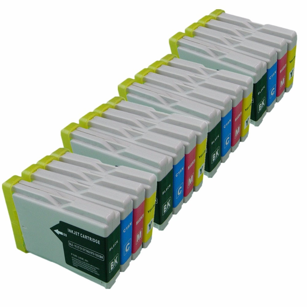 Reemplazo de LC51/57/970 LC 51 57 970 LC51 LC57 LC970 LC-51 LC-57 LC-970 cartuchos de tinta, cartuchos de MFC-860CDN MFC-870CDN