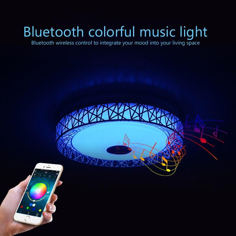 Moderne nid doiseau LED plafonniers RGB Dimmable APP + télécommande Bluetooth musique lumière foyer bébé chambre plafonnier