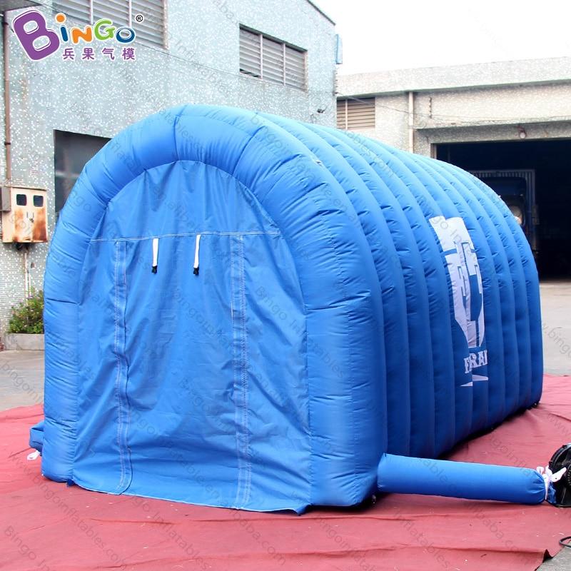 Túnel azul inflable de gran oferta de 4x2x2 metros, tiendas de túnel de entrada inflables, túnel de balón de fútbol inflable barato para eventos