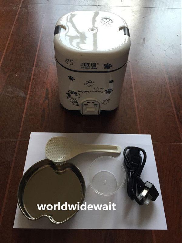 وعاء طهي أرز كهربائي صغير متعدد الوظائف ، سعة 1 ، 2 لتر ، 220 فولت ، للطلاب ، شخص أو شخصين