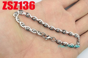 cat's eye shape stainless steel bracelets 4.8mm fashion hand catenary chain  20pcs  ZSZ136