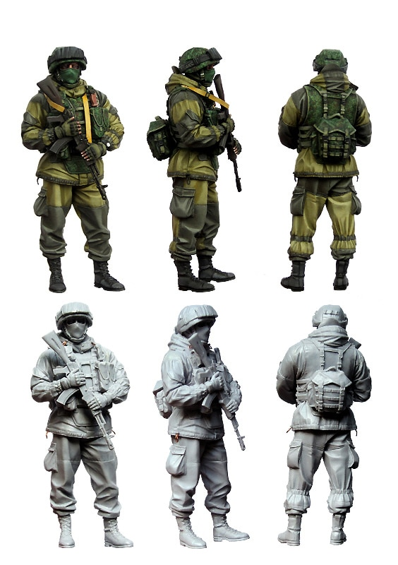 [Tuskmodel] 1 35 набор модели, фигурки русских воинов e3