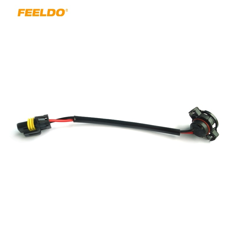 FEELDO 10 Uds coche 5202 H16 a 9006 Cable de arnés HID/LED balastro de conversión a enchufe de Stock # FD-963