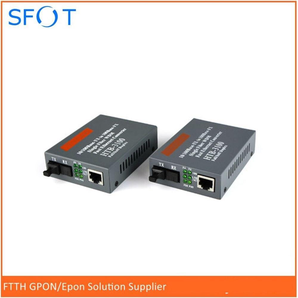 Free Shipping, HTB--3100AB, Optical Fiber Media Converter Fiber Transceiver Single Mode Single Fiber 10/100M 25KM, 1 pair