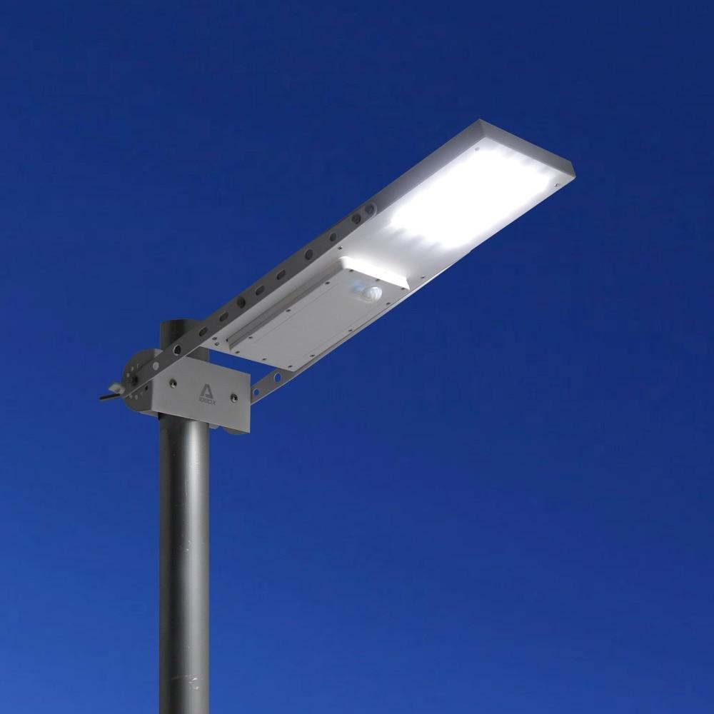 Alpha 1080X Outdoor Motion Sensor Solar Powered LED Pole Wall Street Path Solar Light For Garden 3 W