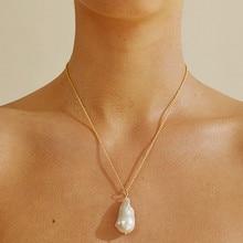 Classique collier grande taille naturel eau douce Baroque perle haute qualité AAA grade perle collier pour femmes bijoux 2019 nouveau