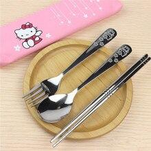 Baguettes fourchette avec tissu   Service de vaisselle en acier inoxydable, cuillère fourchette baguettes avec paquet de tissu, voyage extérieur bureau pique-nique BBQ accessoires de cuisine