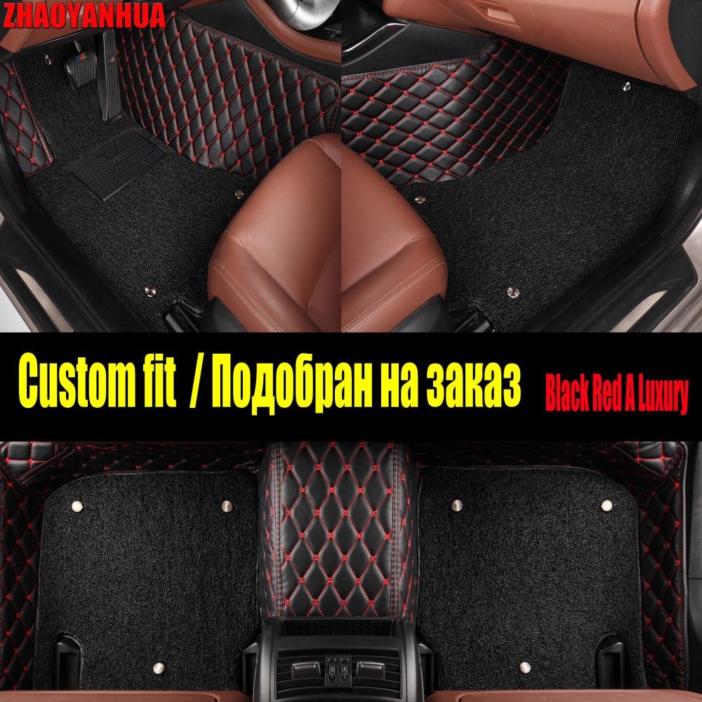 ZHAOYANHUA alfombrilla de coche para Hyundai ix25 ix35 Elantra SantaFe Sonata tufson verna Veloster línea de alfombra de cuero impermeable