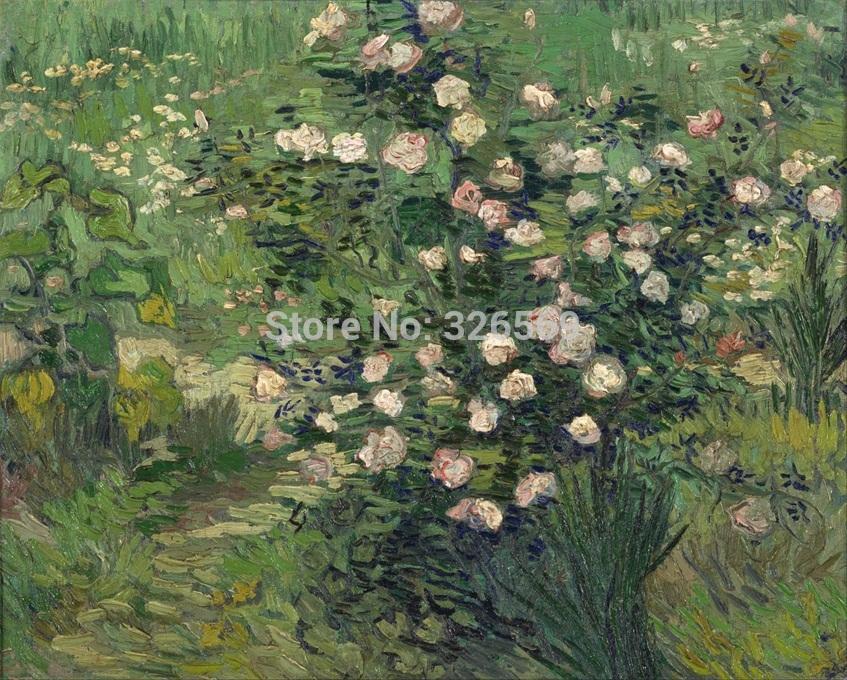 Envío Gratis, pintura al óleo impresa en lienzo, pintura al óleo de Van Gogh rose, decoración moderna para el hogar, imagen artística para pared