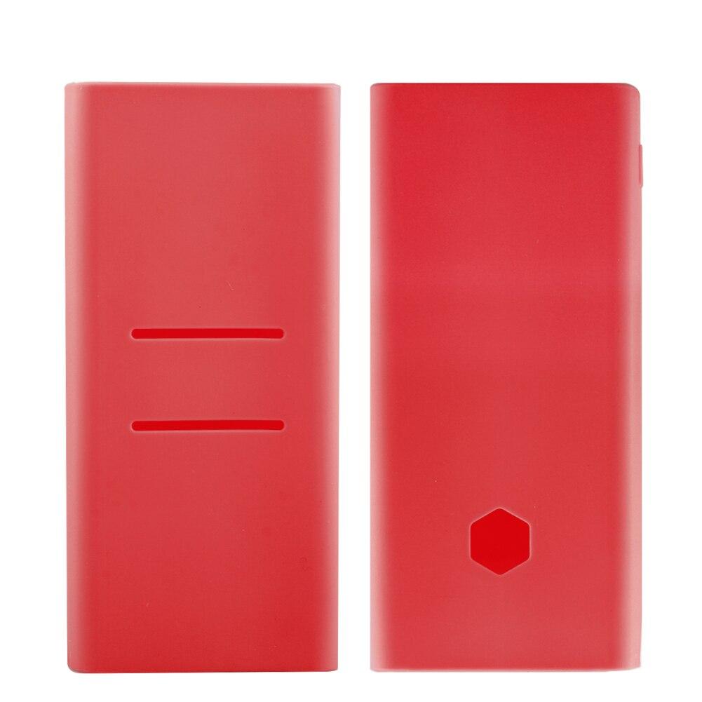 Scrub silicone caso para xiaomi power bank 2c novo 20000 mah plm06zm capa de borracha escudo para portátil bateria externa