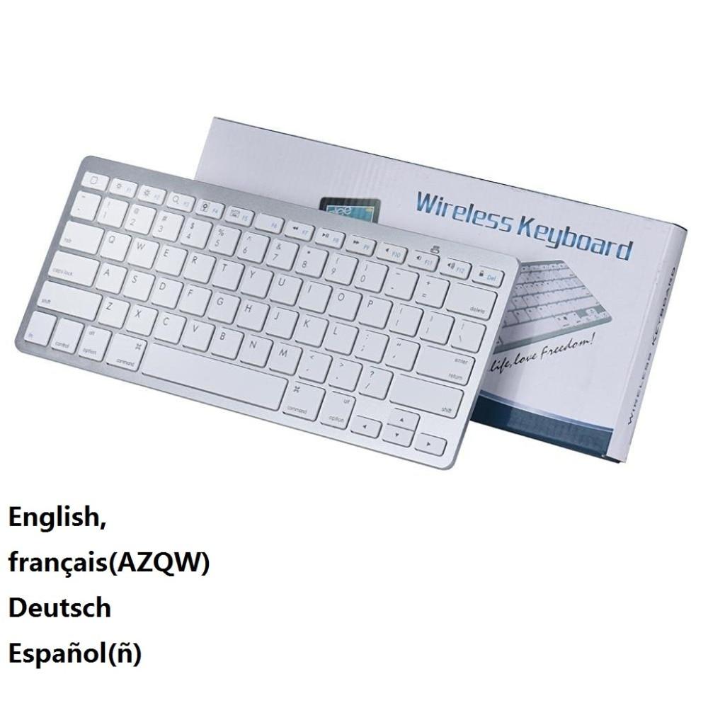 Французский русский английский испанский беспроводной Bluetooth 3,0 клавиатура для планшета ноутбука смартфона Поддержка iOS Windows Android системы