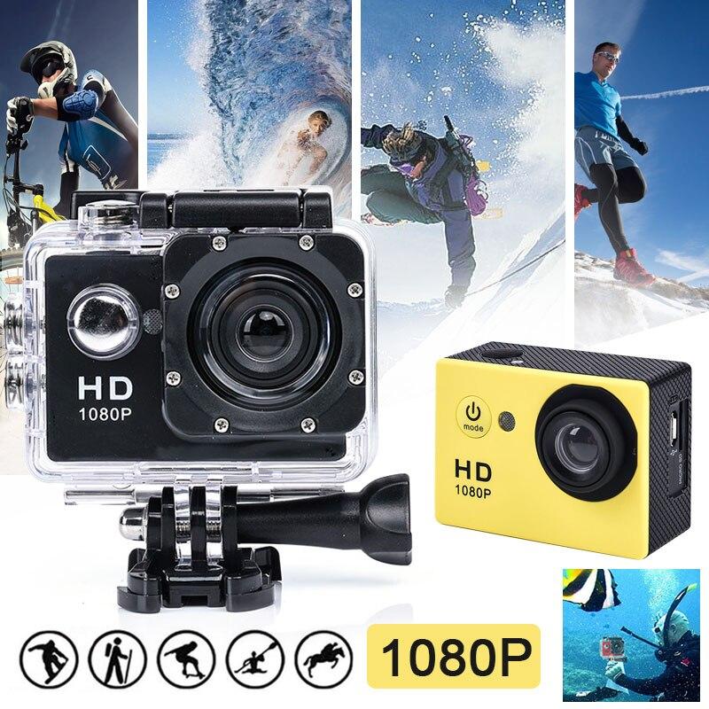 Cámara de Acción de 2,0 pulgadas, Full HD, 1080P, deportes, fotografía DV, natación, buceo, impermeable, Sensor COMS, cámara para gopro, cuatro colores